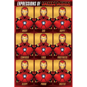 Poster - Expressions of Iron Man