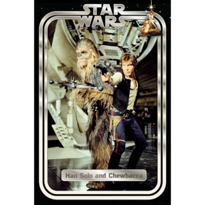 Poster - Star Wars Classic (Han and Chewie Retro)