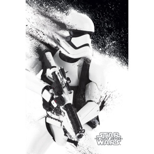 Poster - Star Wars VII (Stormtrooper paint)