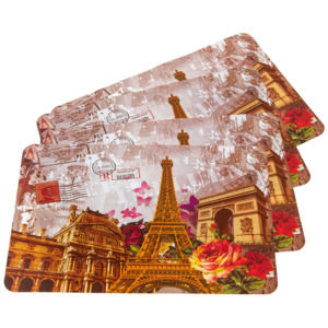 Suport farfurie Paris, 30 x 45 cm, set 4 buc