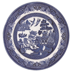 Farfurie Churchill China Blue Willow, 17 cm