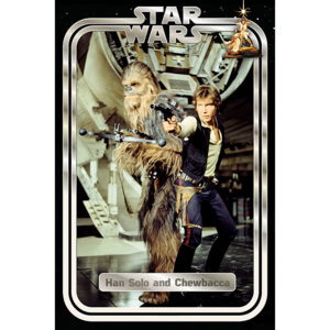 Star Wars Classic - Han and Chewie Retro Poster, (61 x 91,5 cm)