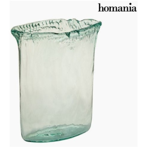 Vază Sticlă reciclată Transparent (26 x 11 x 34 cm) by Homania
