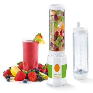 Smoothie Maker Shake and Go Concept SM3350, 500 ml, Anti-alunecare, Siguranta, 180 W, Alb