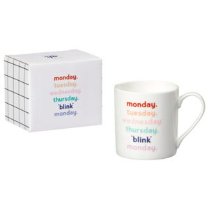 Cană din porțelan Yes studio Monday Blink, 380 ml
