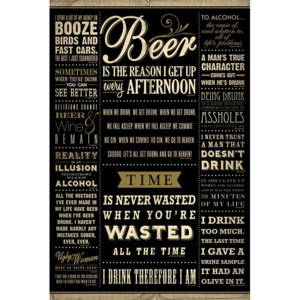 Drinkig quotes Poster, (61 x 91,5 cm)