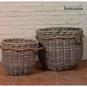 Set de Coșuri (2 pcs) Ratan (54 x 54 x 46 cm) by Homania