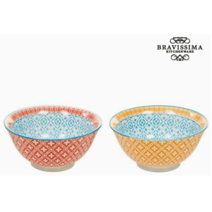 Set de Castroane Porțelan Portocaliu Roșu (2 pcs) - Queen Kitchen Colectare by Bravissima Kitchen