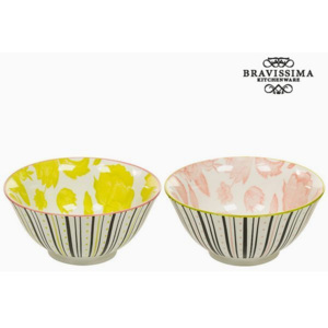Set de Castroane Porțelan Galben Roz (2 pcs) - Queen Kitchen Colectare by Bravissima Kitchen
