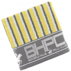 Prosop bumbac 100%, Beverly Hills Polo Club, 602 - Grey, Yellow , 50x100cm