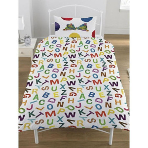 Set lenjerie de pat The Very Hungry Caterpillar ABC, din bumbac 100%