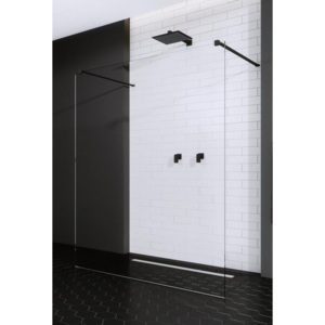 Cabina de dus Walk-in Radaway Modo New Black I 120 cm, profil negru