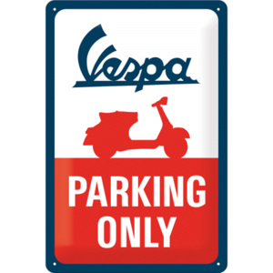 Placă metalică: Vespa Parking Only - 30x20 cm