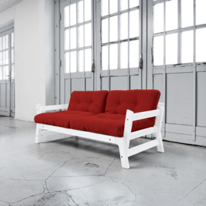 Canapea extensibilă Karup Step White/Red
