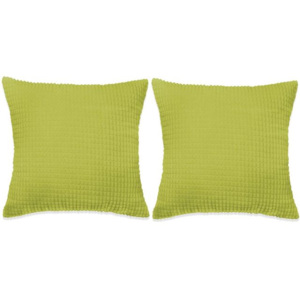 Set perne decorative 2 buc. Velur 60 x 60 cm Verde