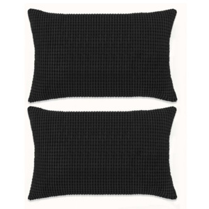 Set perne decorative 2 buc. Velur 40 x 60 cm Negru