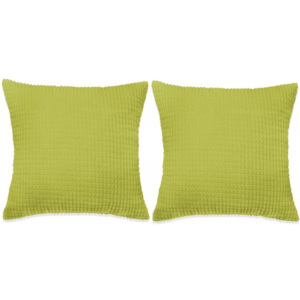 Set perne decorative 2 buc. Velur 45 x 45 cm Verde