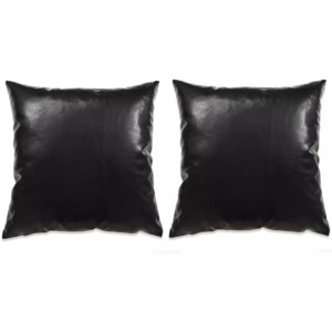 Set perne decorative 2 buc. Poliuretan 45x45 cm Negru