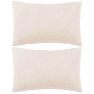 Set perne decorative 2 buc, velur 40 x 60 cm, ivoar