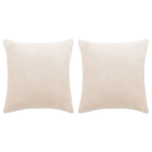 Set de perne decorative, 2 buc, velur 45 x 45 cm, ivoar