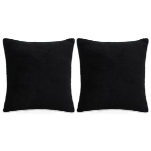 Set perne decorative 2 buc, velur 45 x 45 cm, negru