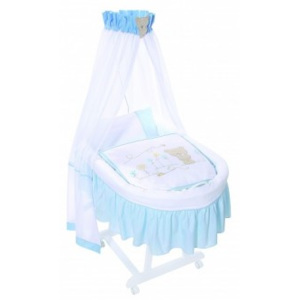 Cos Bebelus Easy Baby - Honey Bear Albastru