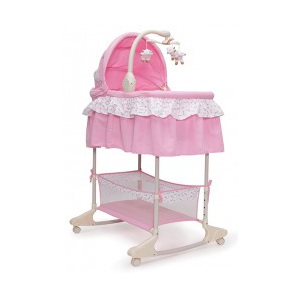 Leagan cu landou Multifunctional Moni Bassinet Nap Pink