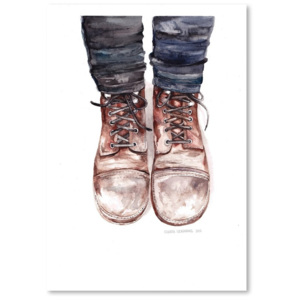 Poster Americanflat Dusty Boots by Claudia Libenberg, 30 x 42 cm
