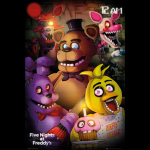 Five Nights At Freddys - Group Poster, (61 x 91,5 cm)