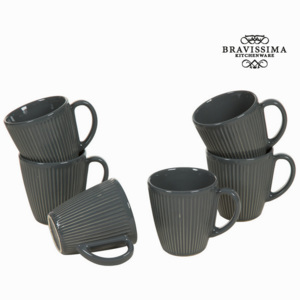 Set de Cești Čínské nádobí Gri (6 pcs) - Kitchen's Deco Colectare by Bravissima Kitchen