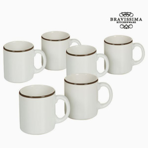 Set de Borcane Faianță Alb Maro (6 pcs) - Kitchen's Deco Colectare by Bravissima Kitchen