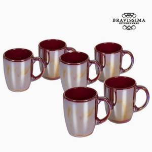Set de Borcane Faianță Bordo (6 pcs) - Kitchen's Deco Colectare by Bravissima Kitchen