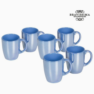 Set de Borcane Faianță Albastru (6 pcs) - Kitchen's Deco Colectare by Bravissima Kitchen