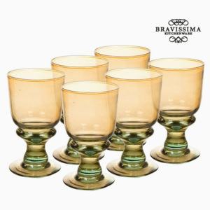 Pahare din Sticlă Reciclată (6 pcs) (25 cl) - Queen Kitchen Colectare by Bravissima Kitchen