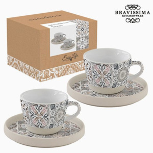 Set de Cești Porțelan Gri (2 pcs) by Bravissima Kitchen