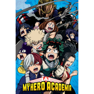 My Hero Academia - Cobalt Blast Group Poster, (61 x 91,5 cm)