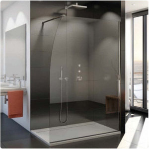 Cabina dus Walk-in SanSwiss Easy STR4PS 140 x H200 cm sticla securizata