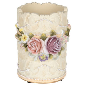 Suport stilouri Flowers din rasina 8 x 19 cm