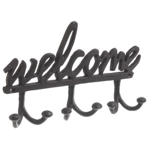 Cuier metalic Welcome 24,5 x 15