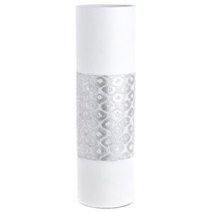 Vaza decor rasina White Silver 50 cm