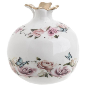 Decoratiune din ceramica Flowers Pomegranate
