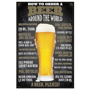 How To Order A Beer Poster, (61 x 91,5 cm)