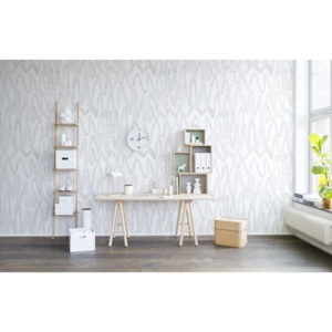 Tapet Pulse of Passion White Rebel Walls