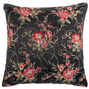 Perna neagra cu model floral 45x45 cm Jade Black White Label