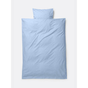 Lenjerie de pat bumbac junior albastru 100x140 cm Light Blue Ferm Living