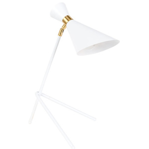Lampa birou din metal alb Shady White Zuiver