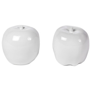 Set 2 mere decorative din ceramica alba Apple Pols Potten