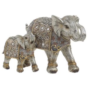 Elefanti decor din rasina Silver/ Golden