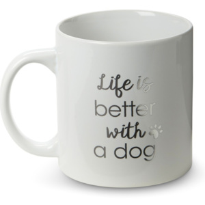Cană din ceramică Tri-Coastal Design Life is Better with a Dog, 300 ml