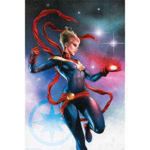 Captain Marvel - Galaxy Poster, (61 x 91,5 cm)